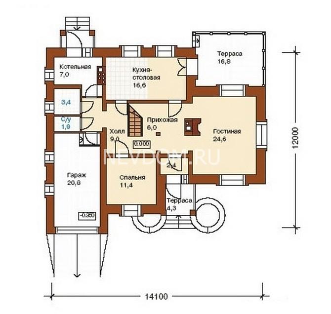 Планировка домов и коттеджей фото