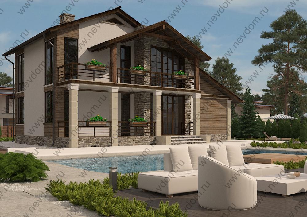Строительство деревянных домов из бруса Проекты и фото
