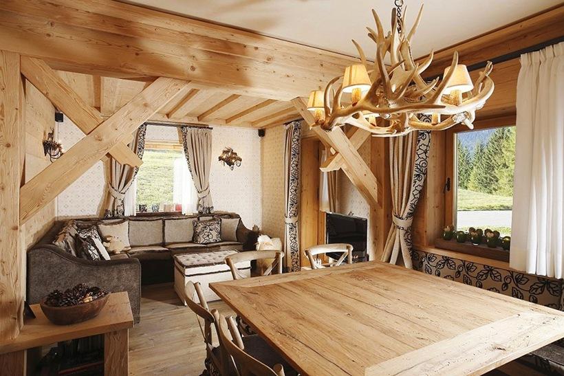 Дизайн интерьера из дерево